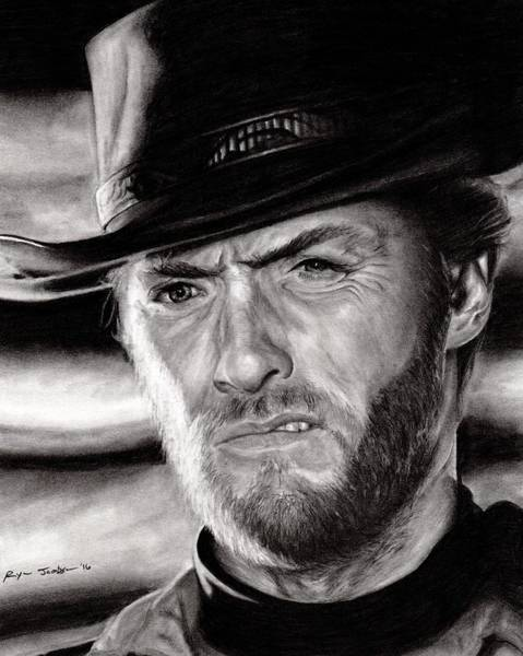 Clint Eastwood Drawing - Clint Eastwood by Ryan Jacobson