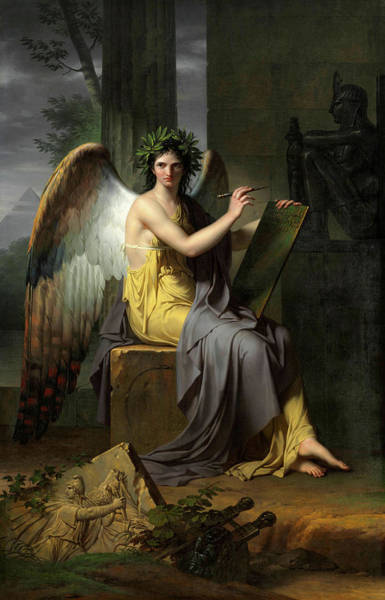 Beauty Wall Art - Painting - Clio, Muse Of History by Charles Meynier