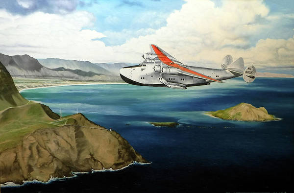 Wall Art - Painting - Clipper At The Makapu'u Light by Marcus Stewart