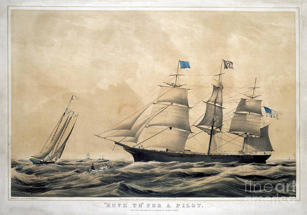 Photograph - Clipper Ship Adelaide by Granger