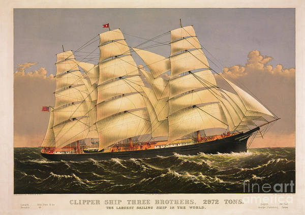 Photograph - Clipper Ship Three Brothers by Dale Powell