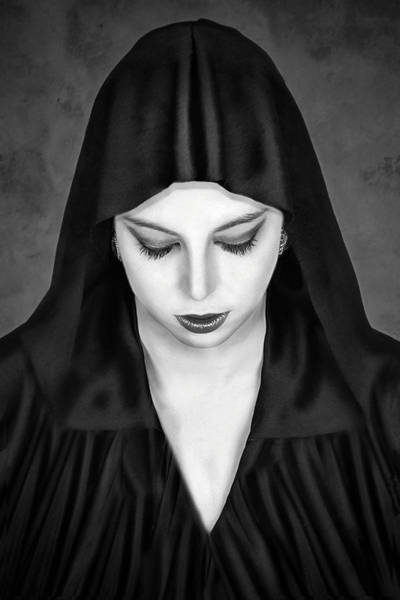Mono Photograph - Cloaked Beauty by Baden Bowen