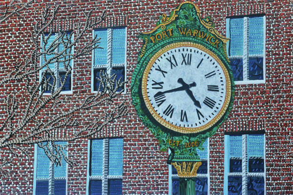 Wall Art - Painting - Clock At Port Warwick by Micah Mullen