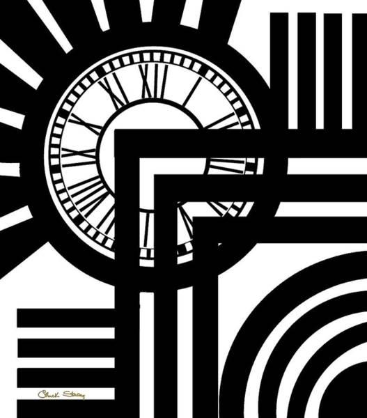 Digital Art - Clock Design Vertical by Chuck Staley