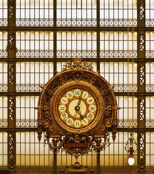 Photograph - Clock Dorsay Museum by Mick Burkey