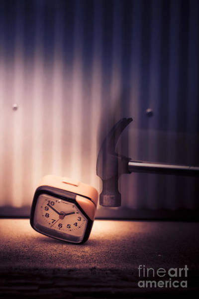 Saying Photograph - Clock The Hammer by Jorgo Photography - Wall Art Gallery
