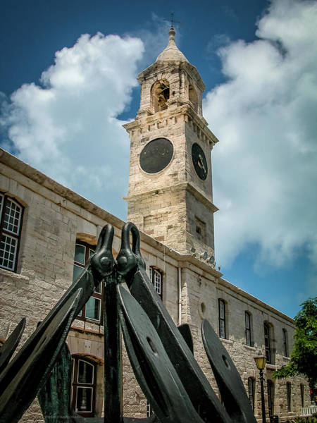 Photograph - Clock Tower At Naval Dockyard, Bermuda 2 by Frank Mari