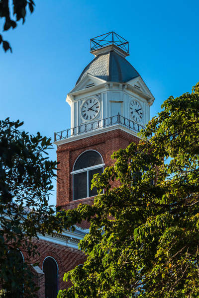 Photograph - Clock Tower At The Monroe County Court House by Ed Gleichman