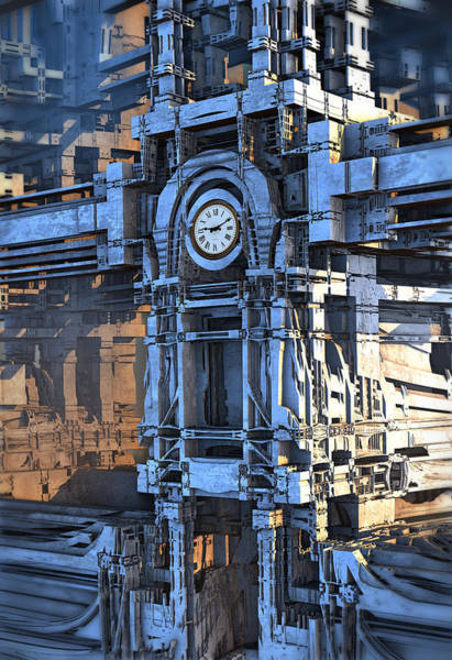 Digital Art - Clock Tower by Hal Tenny