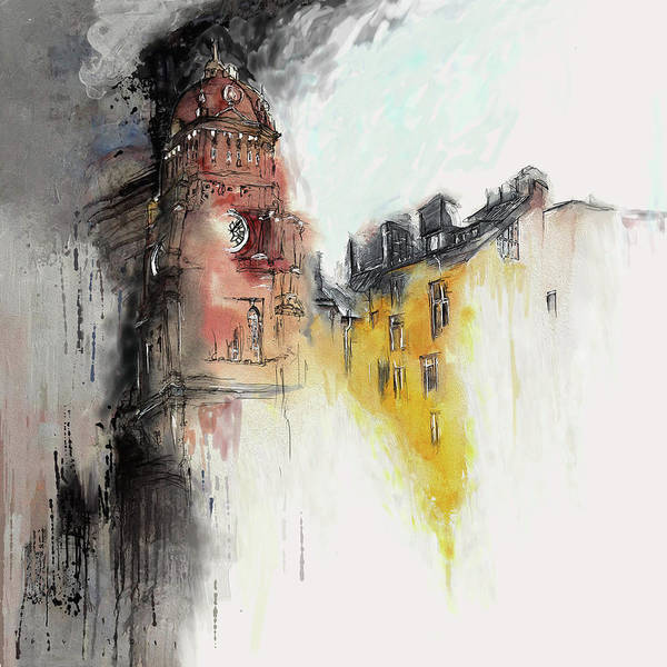 Clock Tower Painting - Clock Tower I by Mawra Tahreem