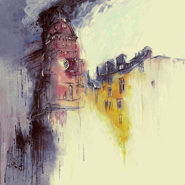 Clock Tower Painting - Clock Tower II by Mawra Tahreem
