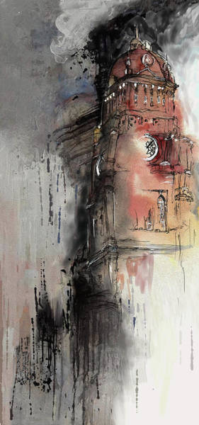 Clock Tower Painting - Clock Tower IIi by Mawra Tahreem