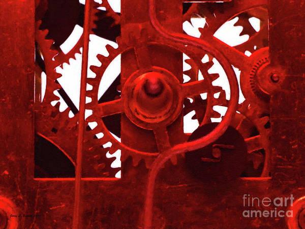 Mixed Media - Clock Works by Jerry L Barrett