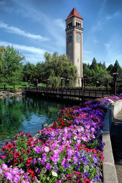 Wall Art - Photograph - Clocktower Summer Spokane by Daniel Hagerman