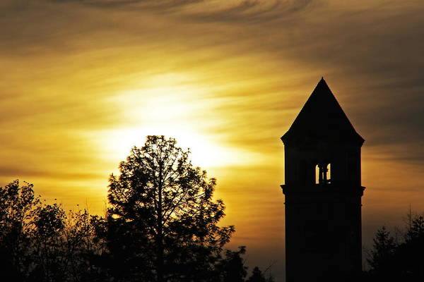 Expo 74 Photograph - Clocktower Sunset 7744 by Donald Sewell