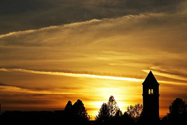 Expo 74 Photograph - Clocktower Sunset 7804 by Donald Sewell