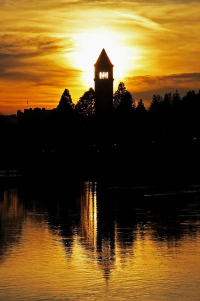 Expo 74 Photograph - Clocktower Sunset 8044 by Donald Sewell