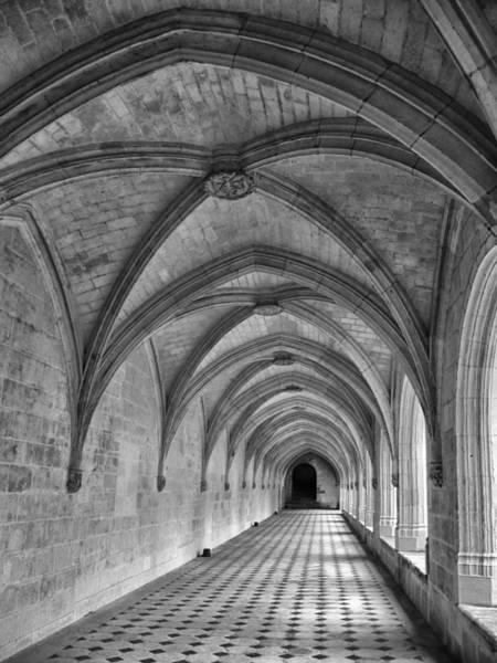 Fontevraud Photograph - Cloister Galleries by Dave Mills