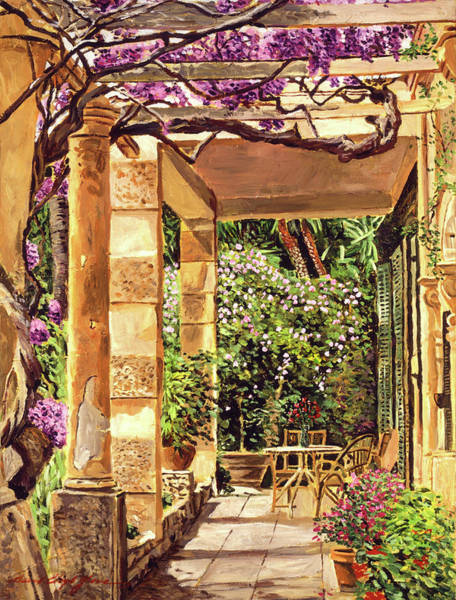 Arbor Painting -  Clos Du Peyronnet Gardens Provence by David Lloyd Glover