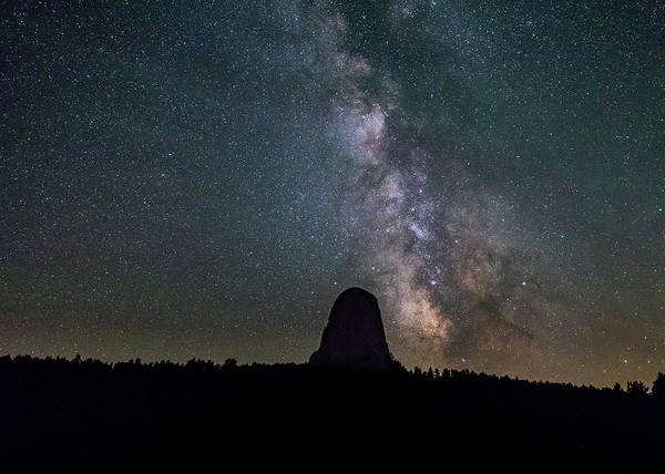 Photograph - Close Encounter With The Milky Way At Devil's Tower by M C Hood