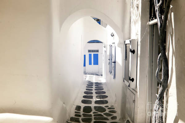 Door To Door Photograph - Close To The Finish In Mykonos Town Infrared by John Rizzuto
