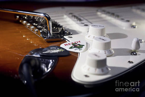 Wall Art - Photograph - Close Up Guitar by MGL Meiklejohn Graphics Licensing