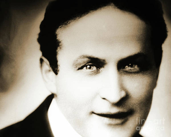 Wall Art - Photograph - Close Up Of Harry Houdini by American School