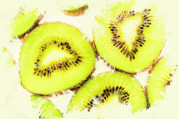 Tropical Photograph - Close Up Of Kiwi Slices by Jorgo Photography - Wall Art Gallery