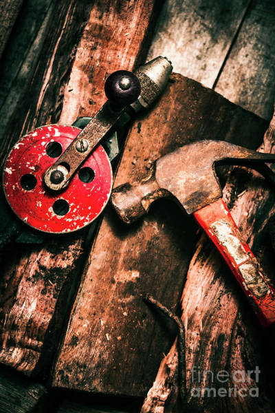 Repair Photograph - Close Up Of Old Tools by Jorgo Photography - Wall Art Gallery