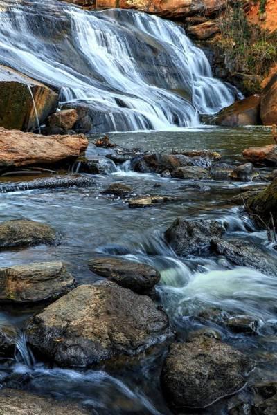 Photograph - Close Up Of Reedy Falls In South Carolina by Carol Montoya