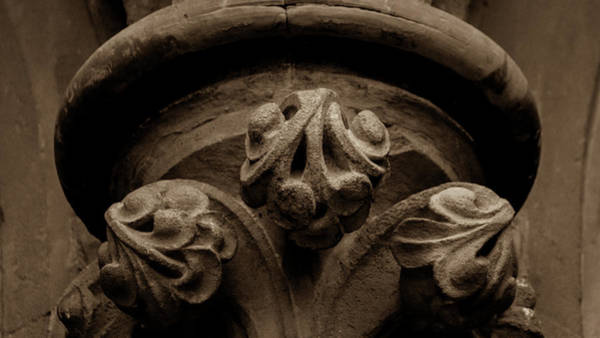 Photograph - Close Up Of Rounded Column Capital by Jacek Wojnarowski