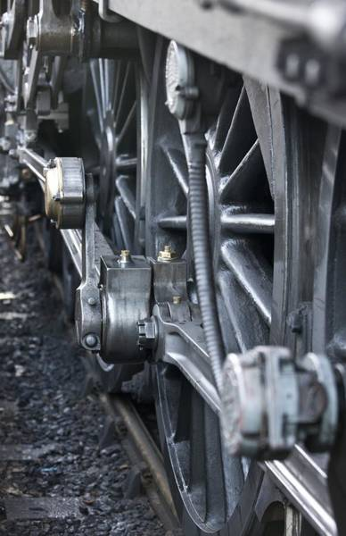 Pickering Photograph - Close-up Of Steam Engine Train Wheel by John Short