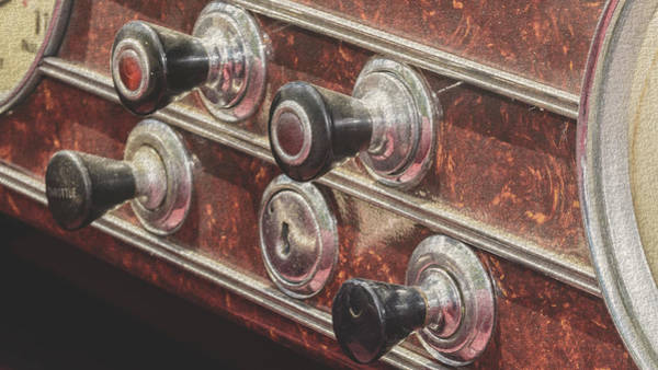 Photograph - Close Up Of Vintage Car Buttons Fine Art by Jacek Wojnarowski