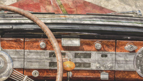Photograph - Close Up Of Vintage Car Dashboard Fine Art by Jacek Wojnarowski