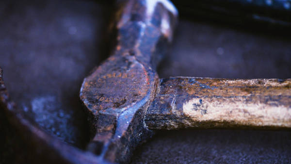 Photograph - Close Up Of Vintage Hammer by Jacek Wojnarowski