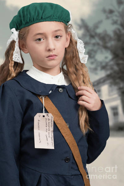 Beret Photograph - Close Up Of War Time Evacuee by Amanda Elwell
