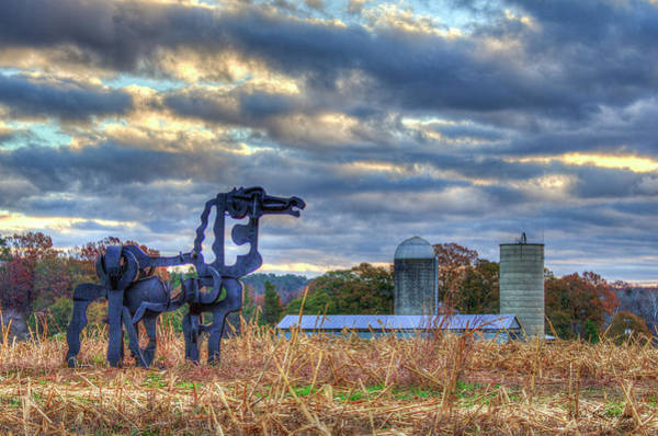 Photograph - Close Up The Iron Horse Farm Scene Art by Reid Callaway