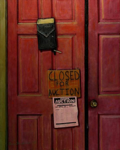Wall Art - Painting - Closed For Auction by Doug Strickland