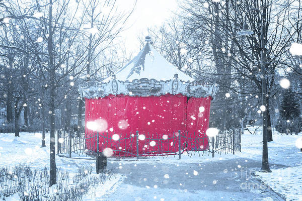 Merry Go Round Photograph - Closed For Winter by Juli Scalzi