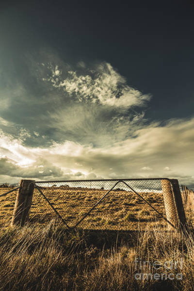 Lock Gates Photograph - Closed Gates And Open Paddocks by Jorgo Photography - Wall Art Gallery
