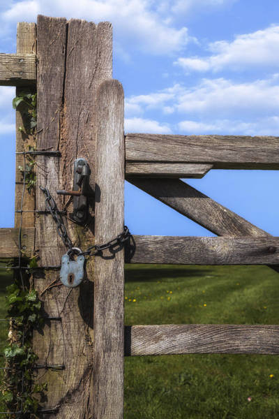 Padlock Photograph - Closed Paddock by Joana Kruse
