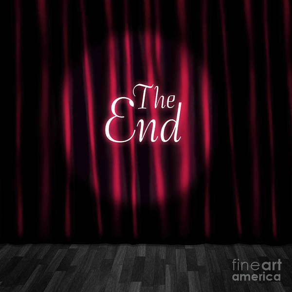 Wall Art - Photograph - Closed Theatre Stage Curtains At Performance End by Jorgo Photography - Wall Art Gallery
