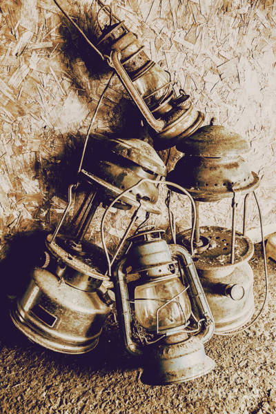 Cottage Style Wall Art - Photograph - Closeup Of Antique Oil Lamps by Jorgo Photography - Wall Art Gallery