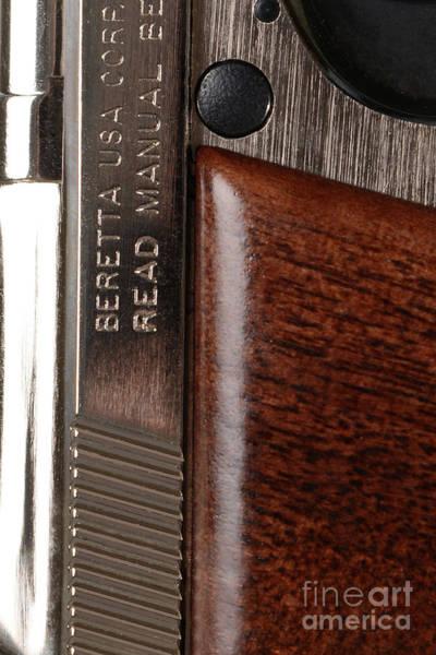 Beretta Photograph - Closeup Of Beretta Pistol by Jt PhotoDesign