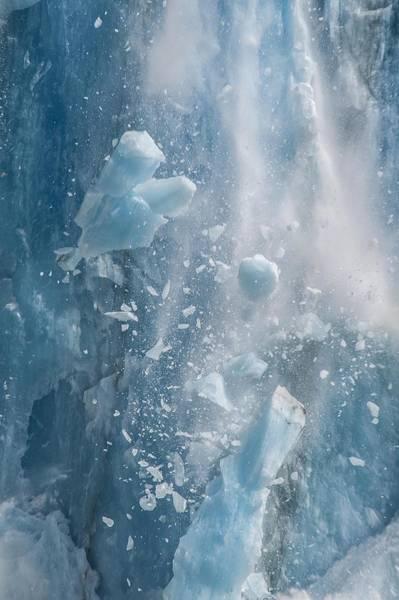 Photograph - Closeup Of Dawes Glacier Calving by NaturesPix