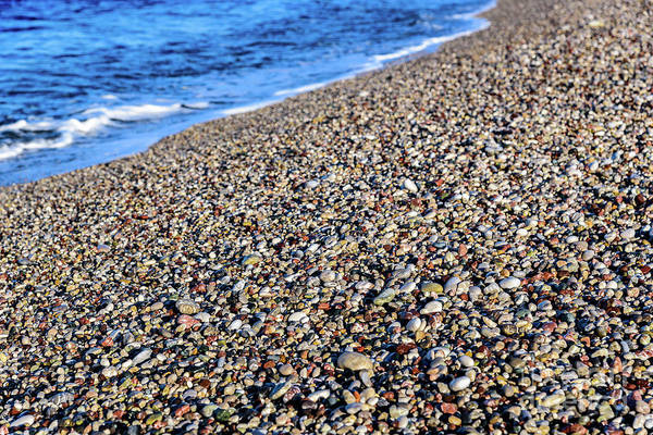 Photograph - Closeup Of Stones On Beach In Rhodes, Greece by Global Light Photography - Nicole Leffer