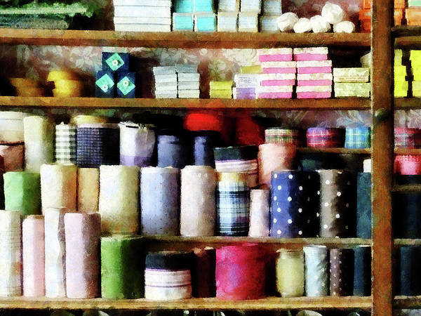 Photograph - Cloth In General Store by Susan Savad
