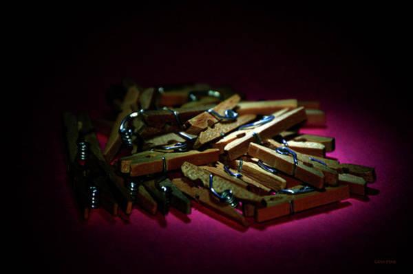 Photograph - Clothes Pins 2 by Lesa Fine