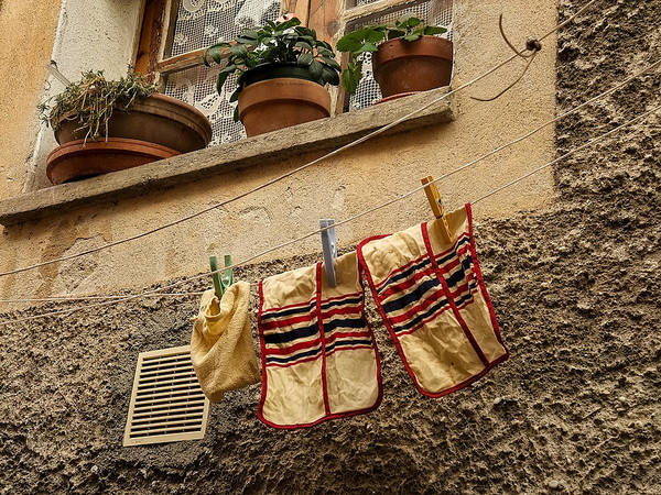 Photograph - Clothesline In Biot by Gary Karlsen