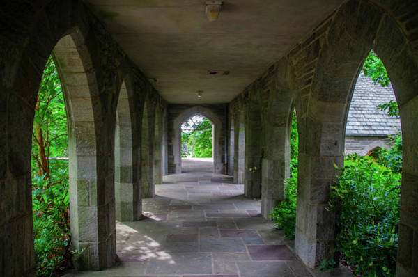 Clothier Photograph - Clothier Memorial Hall Breezeway - Swathmore College by Bill Cannon